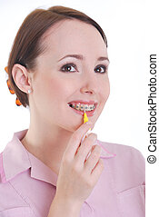 dental, hygenist, limpiar dientes