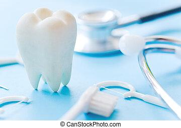 dental hygiene background - Dental model and dental...