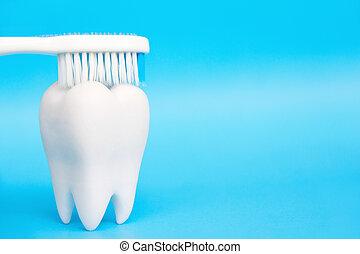 Dental Hygiene Concept - abstract image of Dental Hygiene...