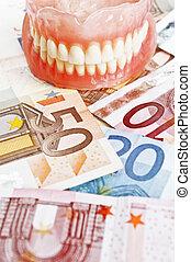 Dental hygiene expenses concept