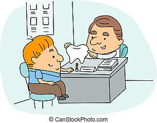 Dental Hygienist - Illustration of a Dental Hygienist at...