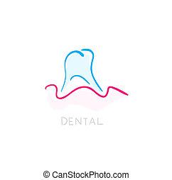Dental icon. Illustration of teeth as icon