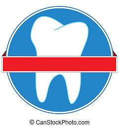Dental icon - New dental icon on a white background
