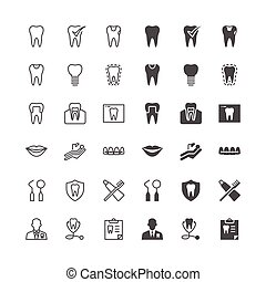 dental, iconos, included, normal, y, permitir, state.