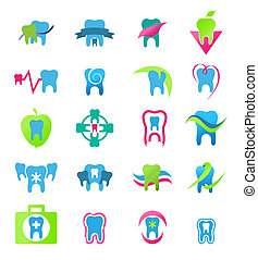 Dental icons. Stomatology in vector