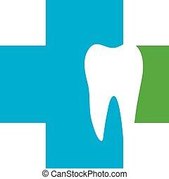 Dental illustration brochure design