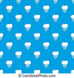 Dental implant pattern seamless blue