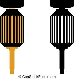 Dental implant screwdrivers