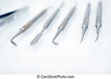 dental instrument. shallow DOF