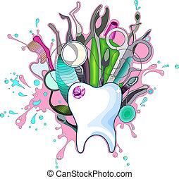 Dental Instruments - Vector art in Adobe illustrator EPS...