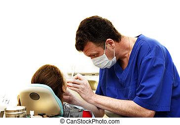 dental kirurgi, kontor