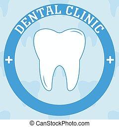 dental, klinik, ikone