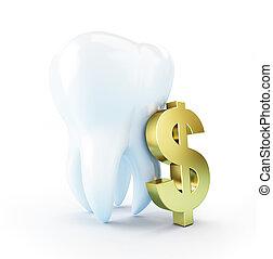 dental, kosta, behandling