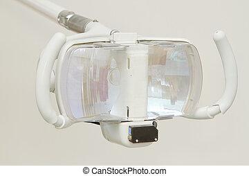dental lamp in dental clinic