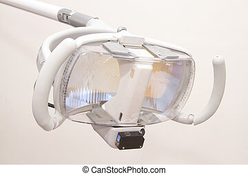 dental lamp in dental unit