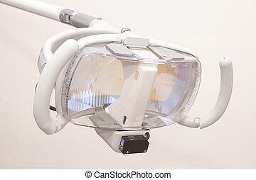 dental lamp in dental unit