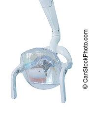 dental lamp on white background