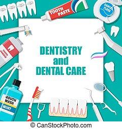 dental, limpieza, tools., cuidado oral, higiene, productos