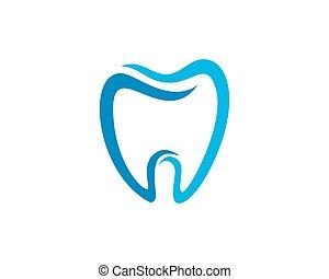 dental, logo, schablone