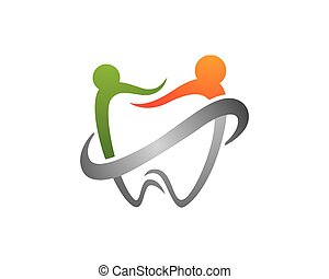 Dental logo Template - Abstract Vector illustration of teeth...