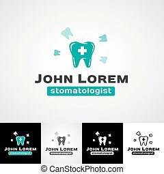 image relating to Tooth Fairy Stationary titled Teeth fairy dental emblem template. teethcare icon mounted