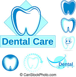 dental logo vector clipart - set of dentistry vector designs...