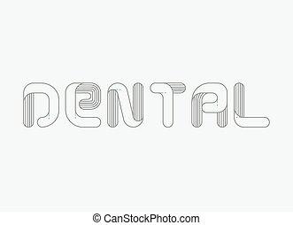 Dental logo vector illustration
