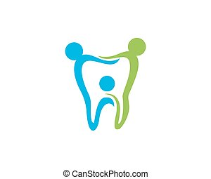 dental, logotipo, plantilla