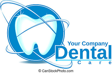 dentistry logotype in vector format very easy to edit, solid colors, no gradients