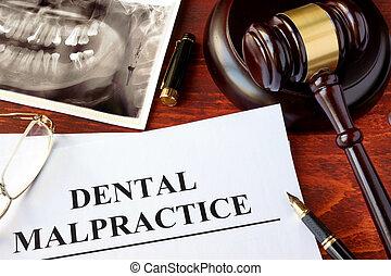 Dental Malpractice form