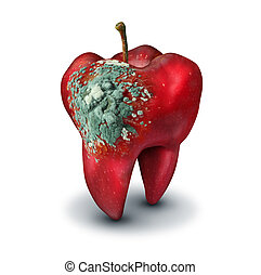 Dental Medicine Concept - Dental medicine concept as a red ...