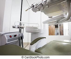 dental, modern, stuhl