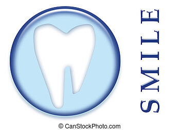 Dental Molar Tooth Smile - A dental molar tooth with smile...