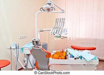 dental, nymodig, kontor