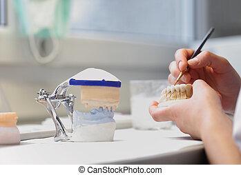 dental, odontólogo, objetos
