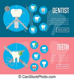 Dental office horizontal website templates