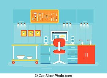 Dental office PC - Stock vector illustration set of dental...