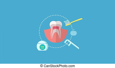 Dental office video concepts. Dentist practice animations