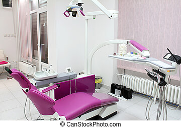 dental office with equipment and chair