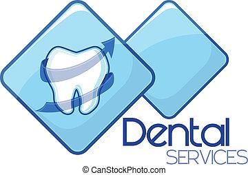 dental omsorg, tjenester, konstruktion, vektor