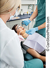 Dental Patient Receiving Local Anesthetic