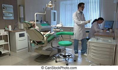 Dental Practice - Interior of dental office, doctor...