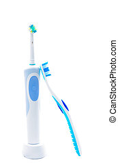 oral hygiene - dental products for oral hygiene isolated
