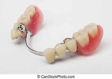 dental prosthesis on white