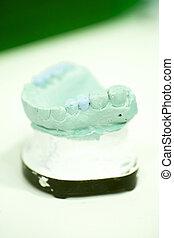 Dental prosthetics clay tooth mold