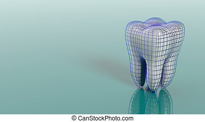 Dental protection concept. 3d illustration