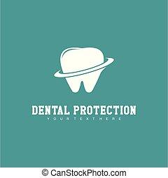 Dental Protection Logo Vector Template Design