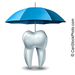 Dental protection plan medical dentistry concept with a...