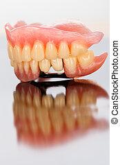 dental, prothese, oberfläche, spiegel