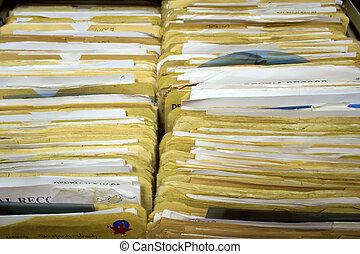 Dental Records Landscape - Dental Records in Filing Cabinet...